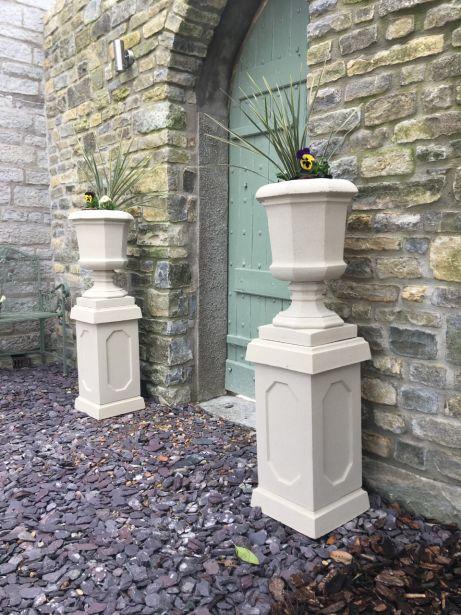 Baldwin Urns on Abbey Plinths