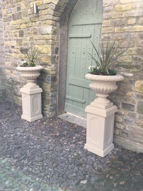 Florentine Urns on Abbey Pedestals