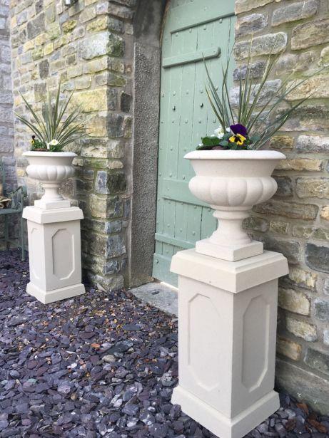 Italian Urns on Abbey Plinths
