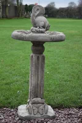 Classic Squirrel Bird Bath