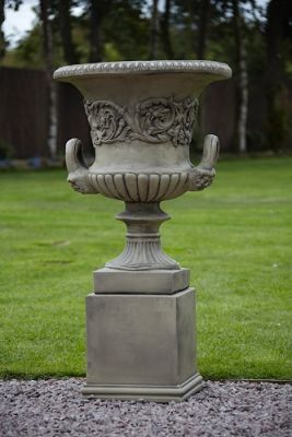 Handled Urn on Plinth