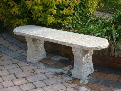 Beige Rustic Bench