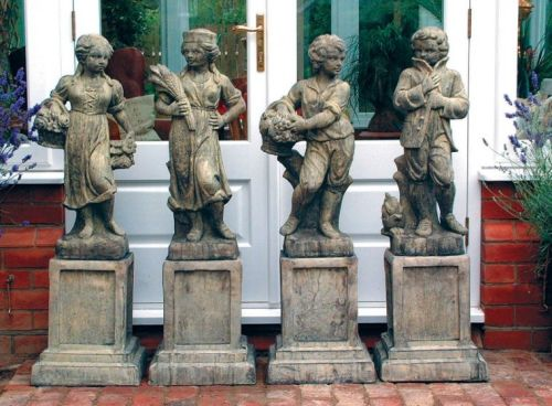 Set of Four Traditional Seasons Statues