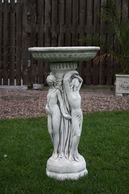 Three Graces Bird Bath