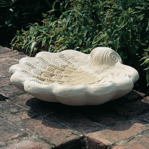 Oyster Shell Bird Bath