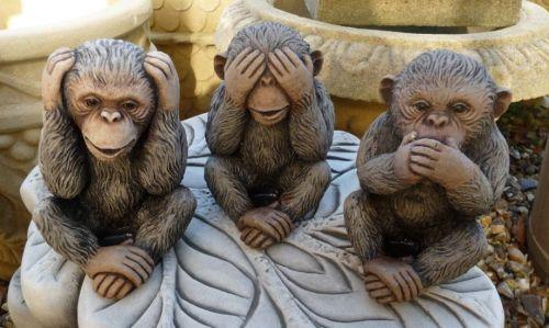 Set of 3 Wise Monkeys