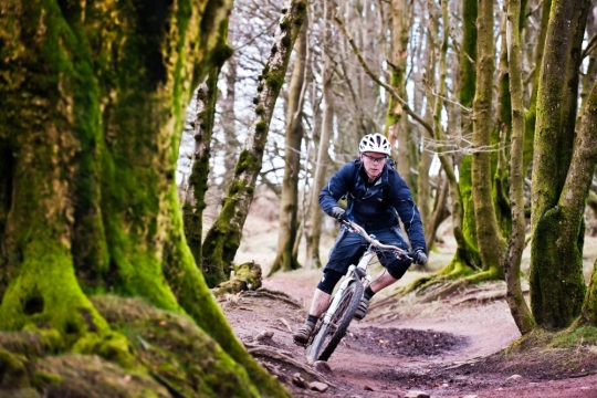 Cyclist in the Quantock Hills by Colin Hawkins for Visit Somerset