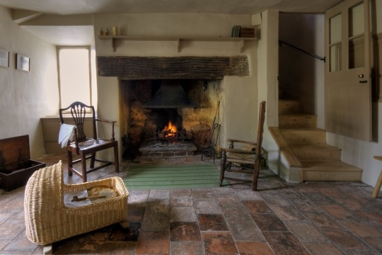 Inside Coleridge Cottage, image supplied by the National Trust