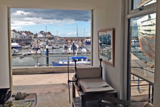 View from inside Contains Art on Watchet Harbour, image supplied by Onion Collective