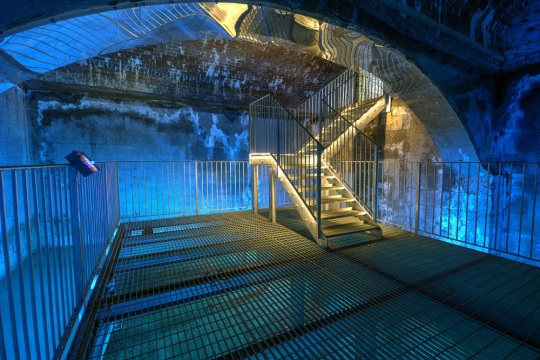 The underground reservoir at Dunster castle, by Dave Wood of the National Trust