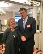 Jennette Baxter, Development Manager Visit Exmoor meets John Glen, MP.