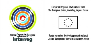 Logos of funding bodies EU INTERREG and ERDF