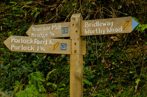 Coleridge Way signpost