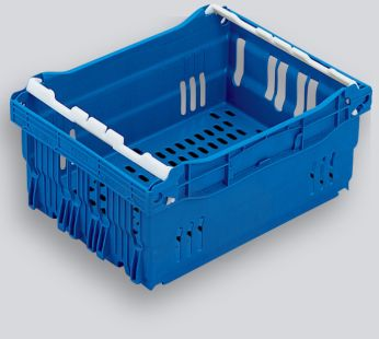 Blue Maxinest Plastic Crate, 400x300x180mm