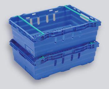 Blue Maxinest Plastic Crate, 600x400x199mm