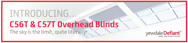 The sky is the limit with Yewdale's new range of overhead blinds!