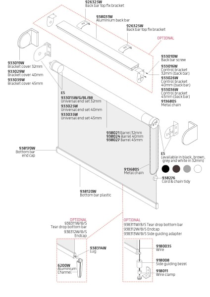 R20 Sidewinder components