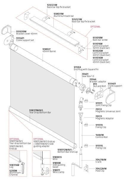 R20C Crank components