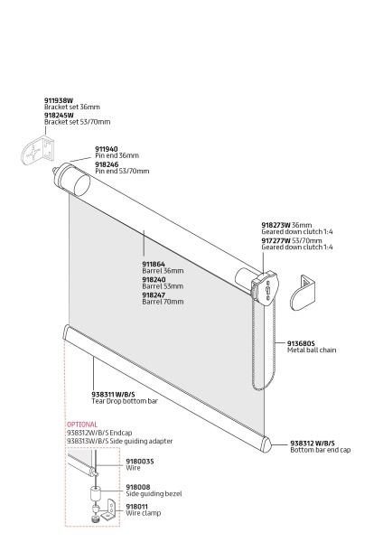 R40 Premium Sidewinder components