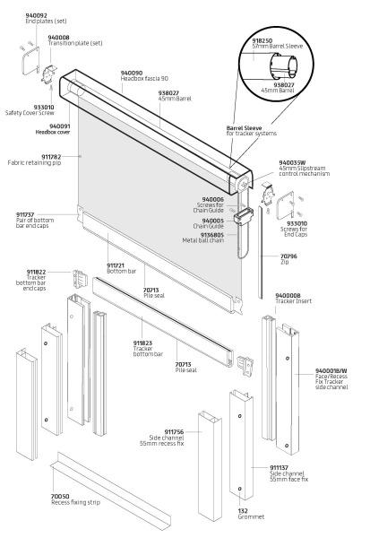 C40 Sidewinder components