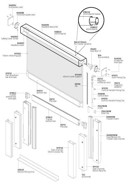 C44 Crank components