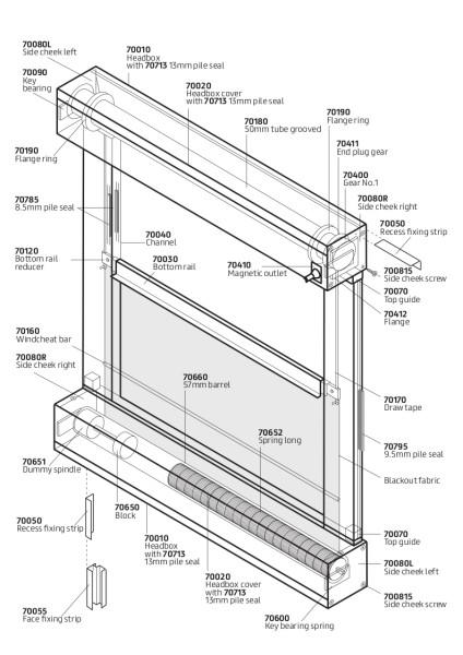 C76 Overhead Crank components