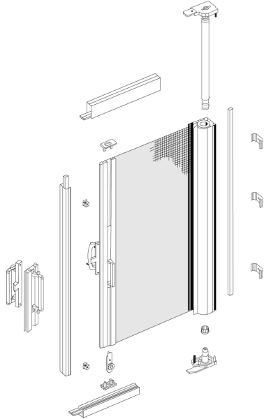 F40 Single Door components