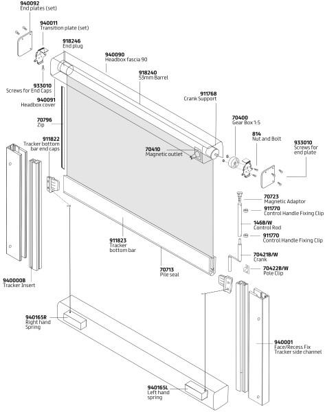 C56T Overhead Crank components