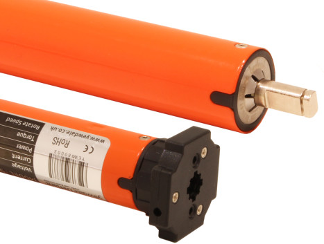 7.4v DC Battery powered tubular motor with in-built radio receiver and battery