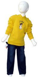 Fleece Hoodie Yellow