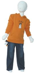 Fleece Hoodie Orange