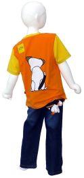 T-shirt with aplique - orange